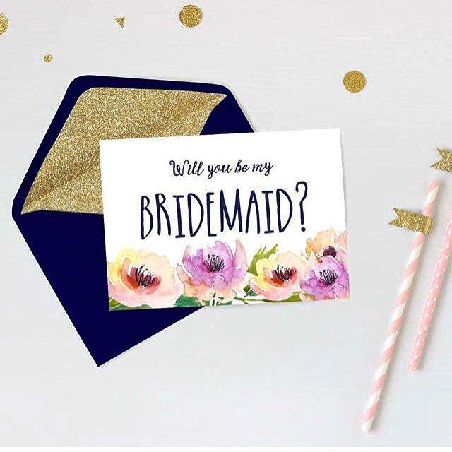 「Will you be my braidmaid?(わたしのブライズメイドになってくれますか?」 <披露宴・1.5次会・二次会 招待状の参考例>