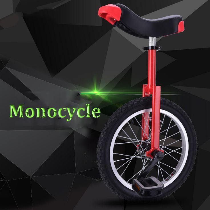 Outdoor 16/20 Inch Monocycle Athletics Balanced Bike Children Adult Bicycle Sing