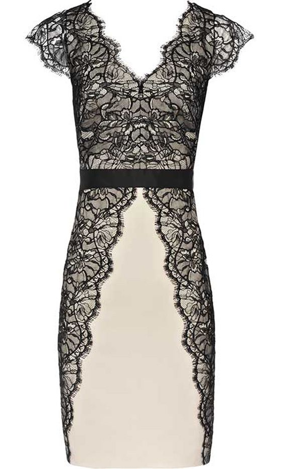 Reiss Black Lace Dress, £195