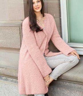 Розовое пальто - схема вязания спицами. Вяжем Пальто на Verena.ru