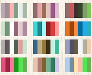 24 Complementary Color Palettes By JLee Via Creattica