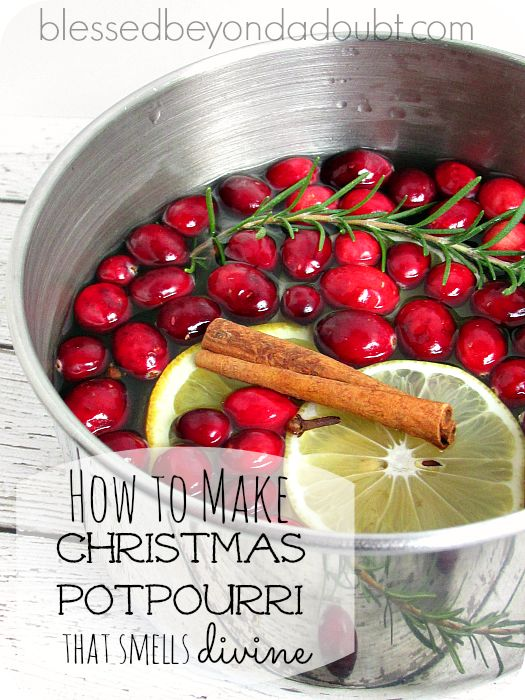 Learn how to make Christmas potpourri that will make your home smell heavenly! Super EASY!