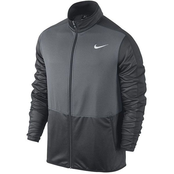 Men's Nike Dri-FIT Rivalry Full-Zip Jacket (€43) ❤ liked on Polyvore featuring men's fashion, men's clothing, men's activewear, men's activewear jackets, grey other and mens activewear