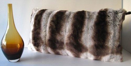 "Chinchilla Faux Fur With Silk Velvet Oblong Pillow 12""x24"" by Wilhelmina Jacobs, http://www.amazon.com/dp/B00AWSDA3O/ref=cm_sw_r_pi_dp_WASgrb1XMP4MF"