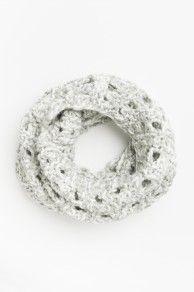Crochet knit eternity scarf