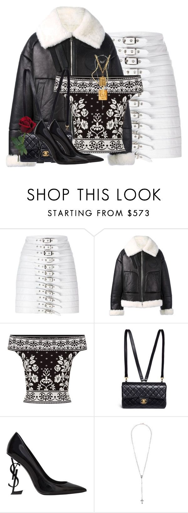 """Untitled #1216"" by jetadorejas ❤ liked on Polyvore featuring Manokhi, Juun.j, Alexander McQueen, Chanel, Yves Saint Laurent, Givenchy, Louis Vuitton and Christian Dior"