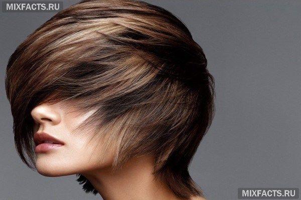 темное мелирование на короткие волосы