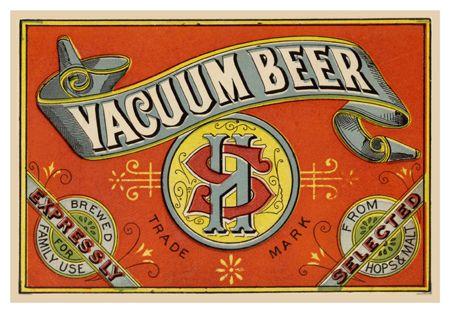 vacuum beer label