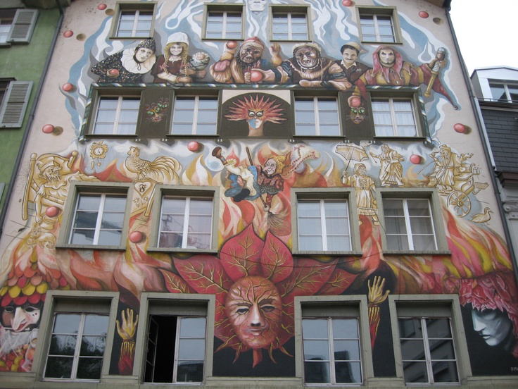 painted building in Luzern