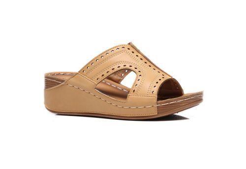 New Ladies Womens New Mid Wedge Heel Casual Summer Slip On Mules Sandals 3-7.5