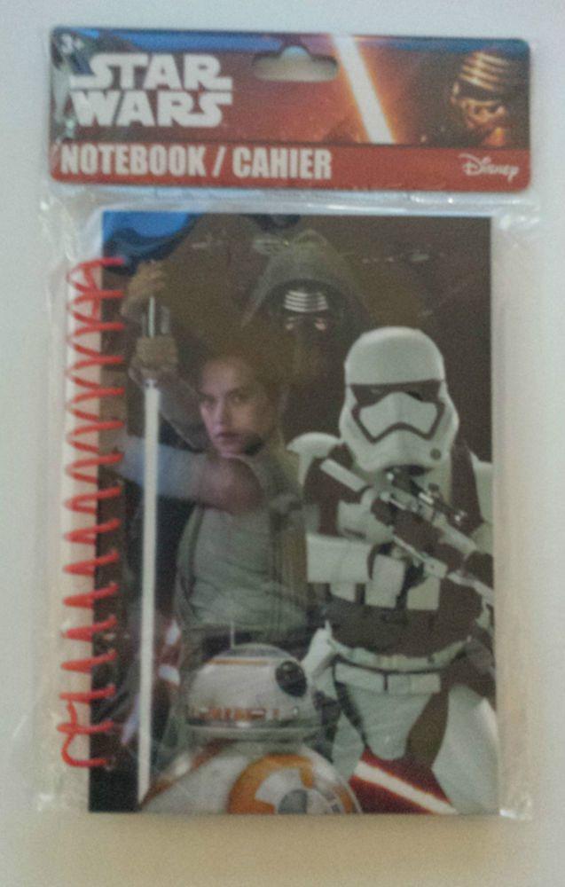 Star Wars Official Force Awakens Notebook Photo New 60 Sheet Spiral Bound Disney #StarWarsDisney