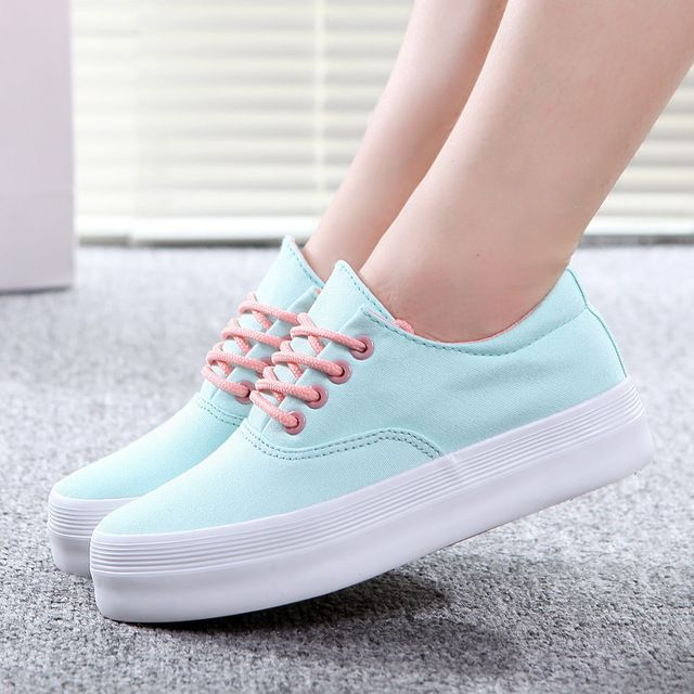 Canvas shoes woman 2015 zapatos mujer fashion Trifle casual shoes women platform women shoes
