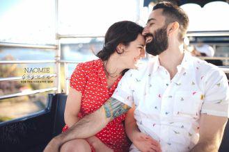 Marie-Michèle & Marc-Antoine Save The Date à la Ronde de Montréal.  Love / Couple / Ronde / Montréal / Save The Date / Grande Roux