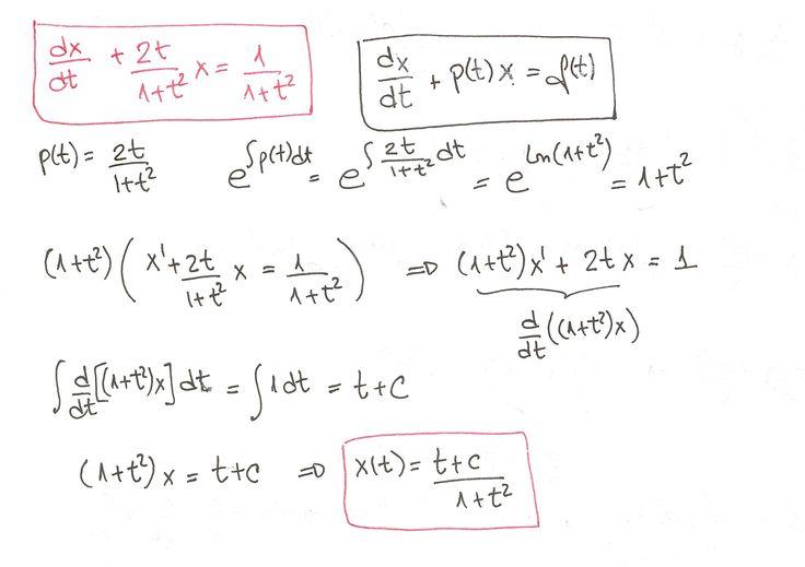Ejercicio 3 resuelto de Ecuaciones diferenciales lineales de primer orden