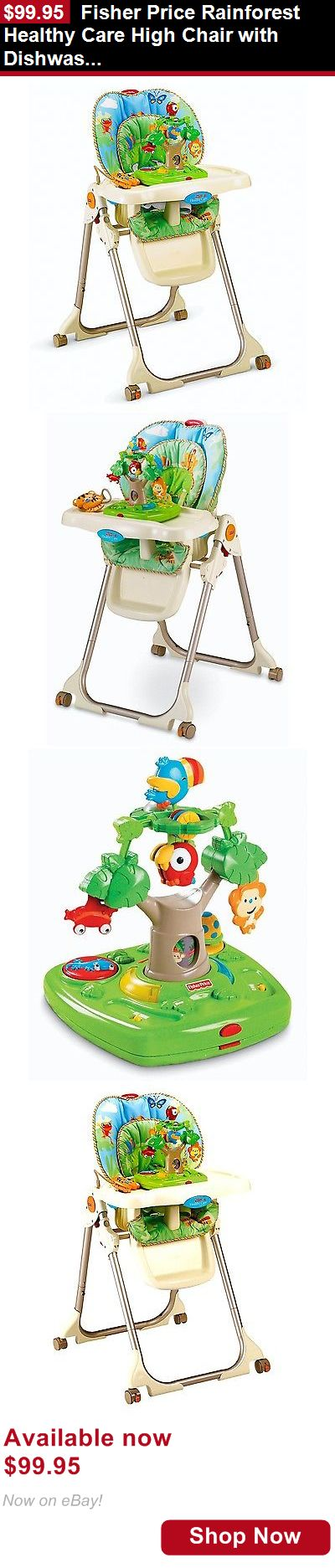Baby High Chairs: Fisher Price Rainforest Healthy Care High Chair With Dishwasher Safe Tray W3066 BUY IT NOW ONLY: $99.95
