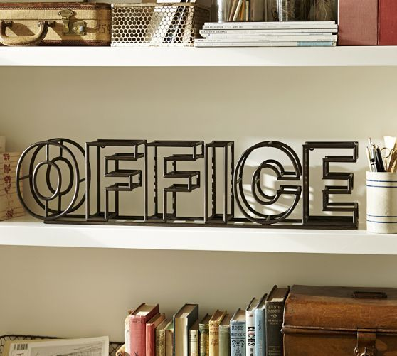 Wrought Iron Office Sign | Pottery Barn