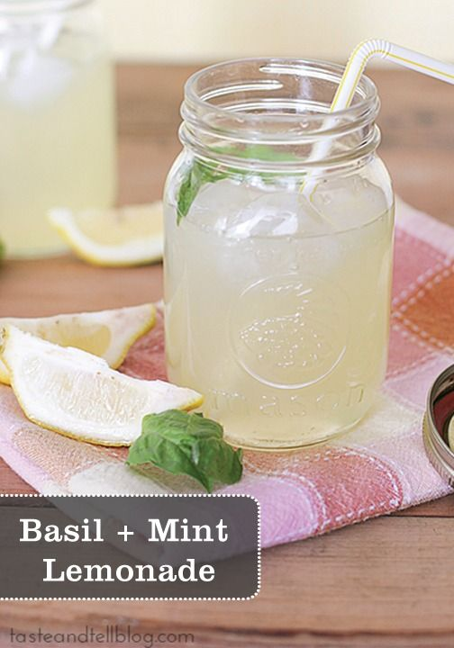 Make this Basil + Mint Lemonade drink today, and enjoy some on your porch, your balcony, or your deck.  It's the perfect way to celebrate summer!