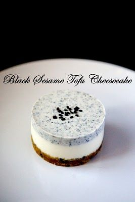 It isn't vegan yet has tofu, would like to try any way - Yue's Handicrafts ~月の工作坊~: Black Sesame Tofu Cheesecake