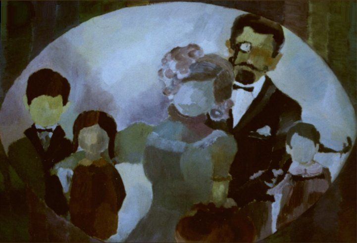 19 in x 13 in (48,3 cm x 33 cm) Value Poster - Contemporary Art Painting 'Family Portrait'
