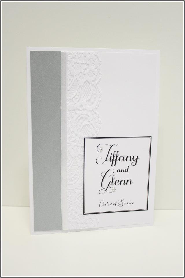 Order of Service Designs  {Wedding} Silver, Black & White Theme www.facebook.com/InvitationDesignsByEliza