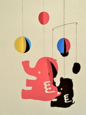 Elephant Mobile - for children, boy, girl, kids room decor - Studying - gift - home - toy -baby on Etsy, $17.70 AUD