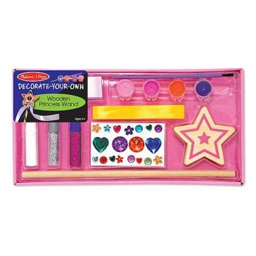 Melissa & Doug Decorate Your Own Wooden Princess Wand - Art & Magentic Play - Products