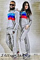 Спортивный костюм мужской и женский BMW sport серый 4011
