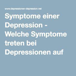 Symptome einer Depression - Welche Symptome treten bei Depressionen auf