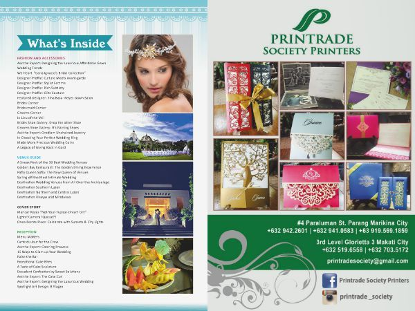 Check out  Printrade Society Printers in the WEDDING DIGEST LUXE FOR LESS, the Revised Edition. It is converted  into a digital format with updated contents  available for FREE BROWSING at www.weddingdigest.com.ph  #WeddingDigestPh #emagazine #LuxeforLess #weddings #iloveweddings #invitation #weddinginvitation #printradesociety