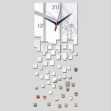 3D Acrylic Mirror Home Decor Square Wall Clock Mirror Surface Sticker 4499287 2017 – $13.99