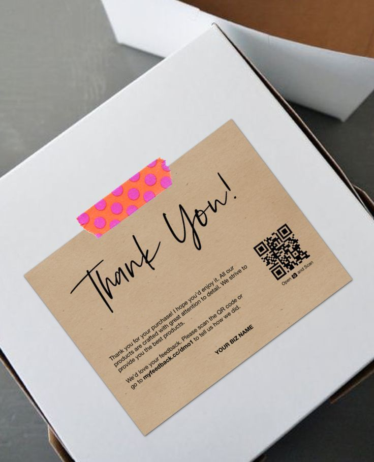 Printable Thank You Cards For Business Thank You For Your Purchase Cards Packaging Inserts Kartu Nama Bisnis Ide Kemasan Kartu Nama