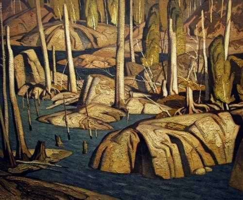 'Backwater' (On The York River) by Canadian painter A.J. Casson (1898-1992). via Art Country Canada