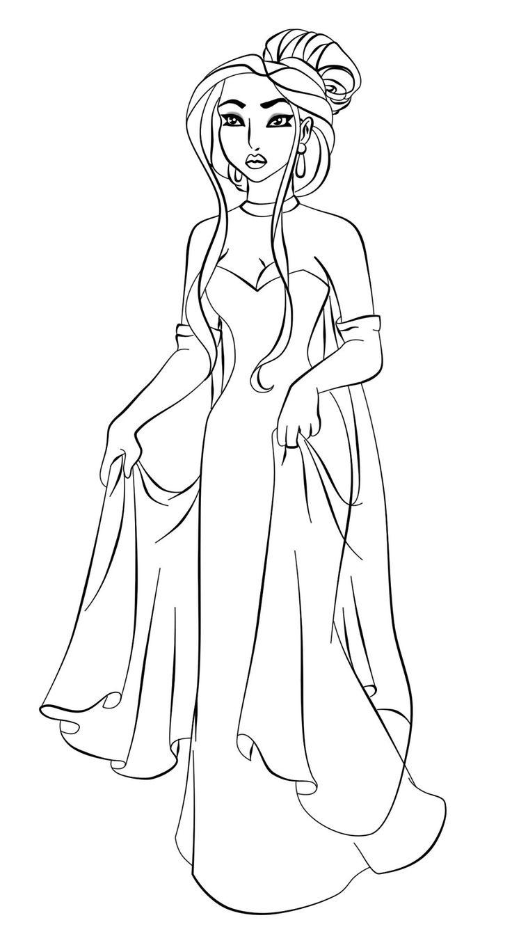 Poca as Anastasia - Lineart by Paola-Tosca on DeviantArt  Disney