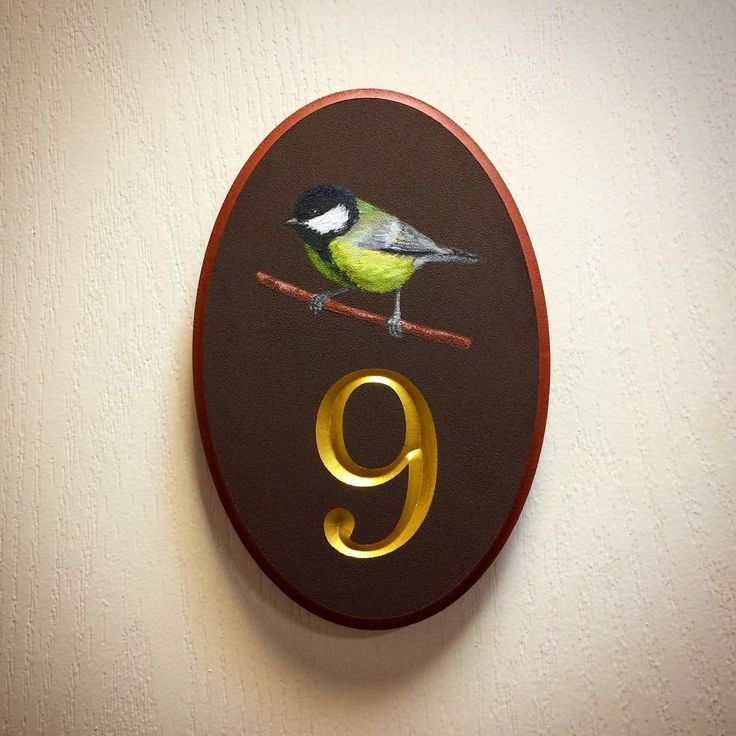 Рельефный номер для дома. Ручная покраска. 250*170мм. House Number Signs