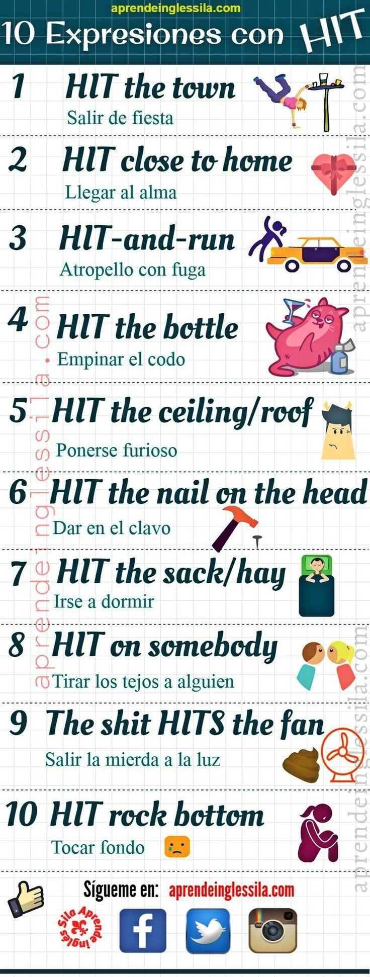 """Aprende Inglés-Sila on Twitter: """"10 expresiones en #inglés con HIT"""