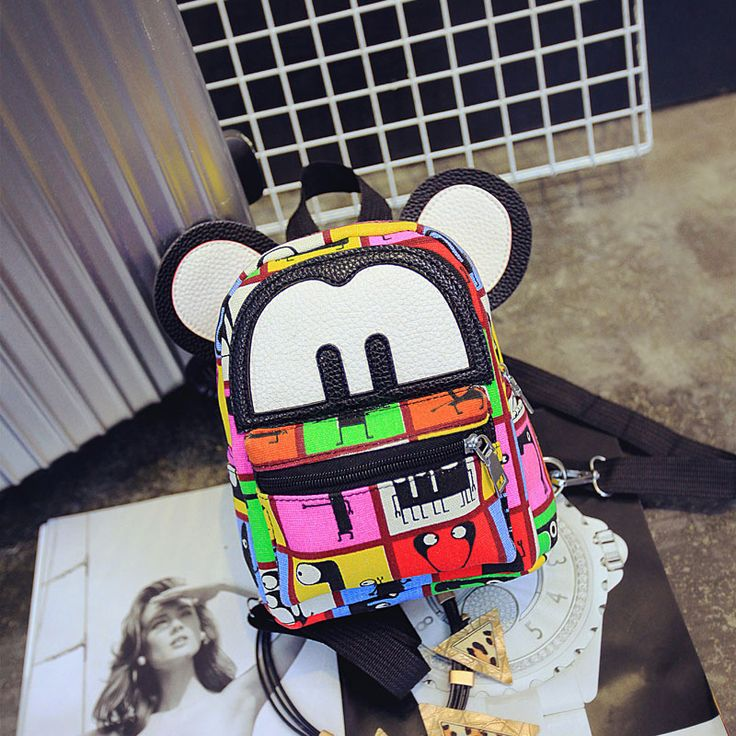 Find More Backpacks Information about Cute Women Backpack with ears School Bags Canvas Printing Backpack Shoulder Bolsas Cartoon School Backpacks for teenage girls,High Quality Backpacks from Sunshine clothing and accessory store on Aliexpress.com