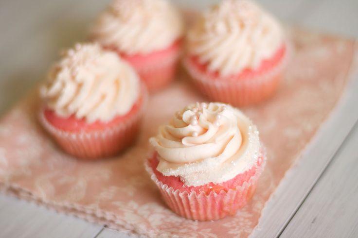 Pink Velvet Cupcakes via The Baker Chick