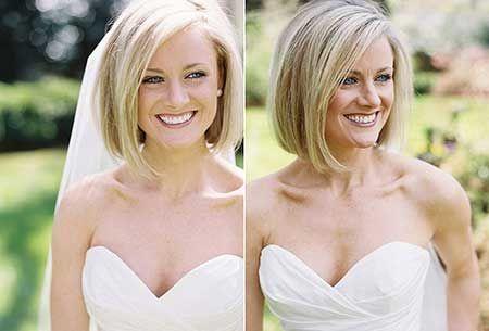 Nur für den Fall, dass ich meine Haare satt habe und sie vor der Hochzeit abschneide …   – Wedding Ideas! <3