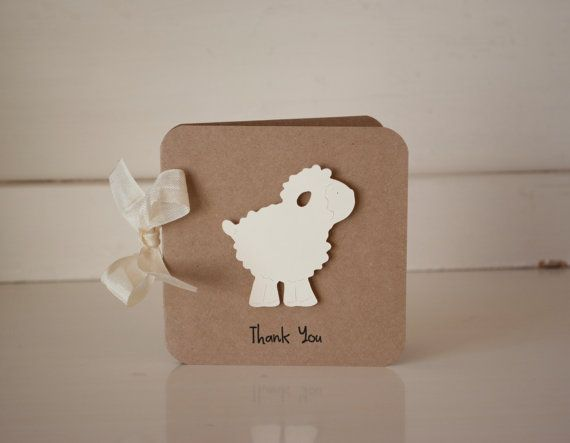 Lamb Thank You Cards for Karen by CardinalBoutique on Etsy