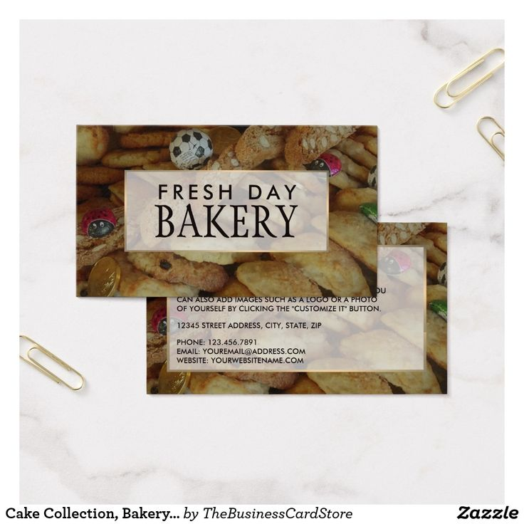 Cake Collection, Bakery Store Business Card