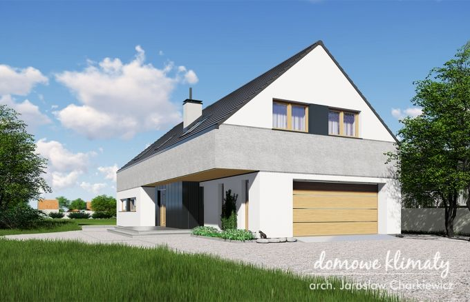 Projekt domu Akord VIII N NF40, wizualizacja 1