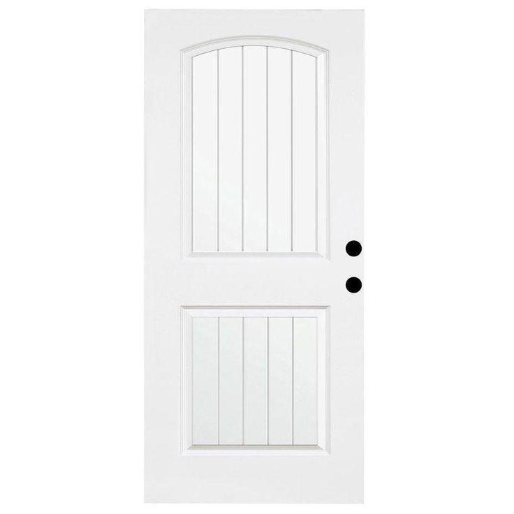 Steves U0026 Sons 36 In. X 79 In. Premium White 2 Panel Plank. Entry DoorsBack  ...