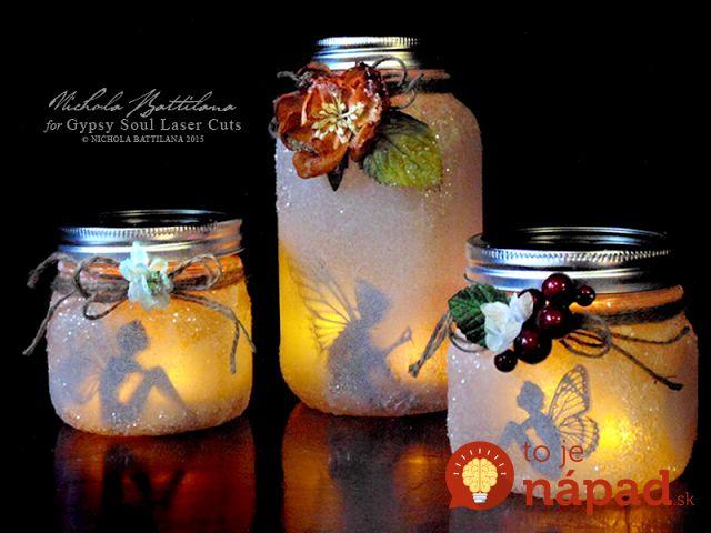 Zaváraninový pohár sa môže stať najkrajšou ozdobou vašej terasy. Pozrite si video a vytvorte si originálne lampáše aj vy. http://tojenapad.dobrenoviny.sk/tato-zena-vam-ukaze-premenit-zavaraninovy-pohar-najkrajsiu-ozdobu-letnej-terasy/  #bottle #diy #light #decorations #handmade