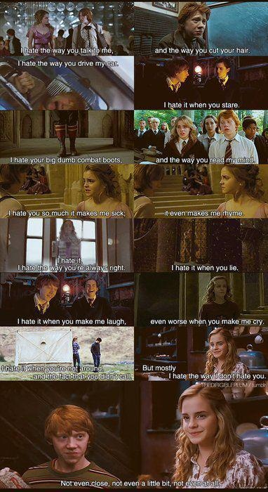 10 Things I Hate About You. The Harry Potter version. Tears!