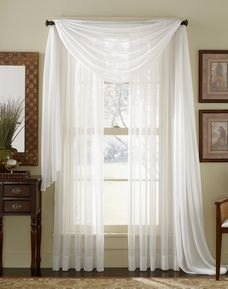 Affordable white sheer curtain panels