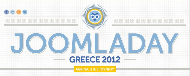 The 2nd JoomlaDay Greece is coming the weekend of June 2 & 3, 2012 at Danaos in Athens. http://joomladay.gr/