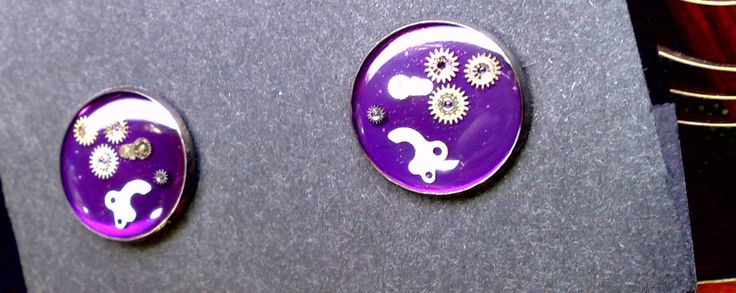 cufflinks steampunk resin