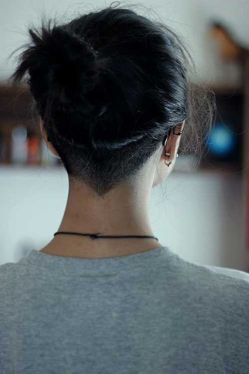 12.Cute Bun for Short Hair
