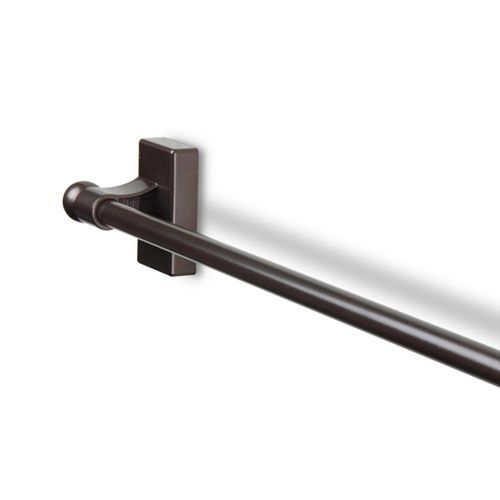 Exceptional Cocoa 17 To 30 Inch Magnetic Curtain Rod
