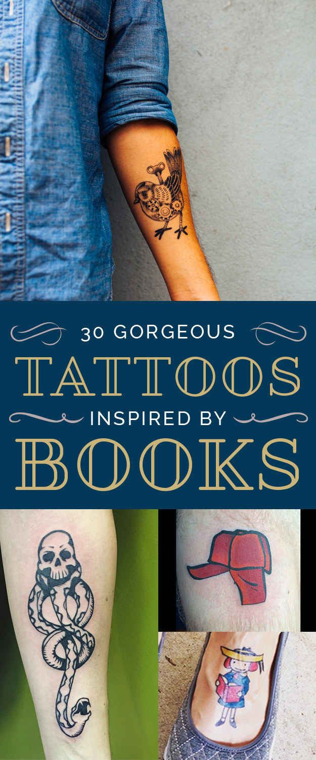 30 Gorgeous Tattoos Inspired By Books